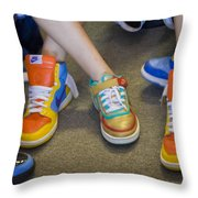 Hip Hop Shoes Throw Pillow
