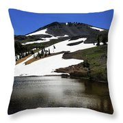 Hiram Peak Glaciers Throw Pillow