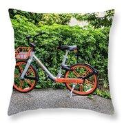 Hire Bike Throw Pillow