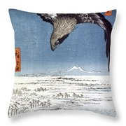 Hiroshige: Edo/eagle, 1857 Throw Pillow