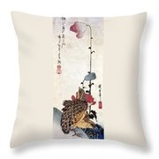 Hiroshige: Poppies Throw Pillow