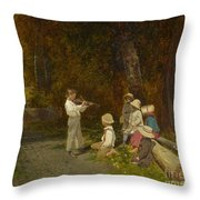 His First Appearance In Public Throw Pillow
