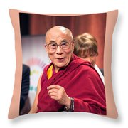 His Holiness The 14th Dalai Lama Photo By Christopher Michel 2012 Throw Pillow