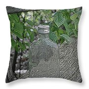 His Last Drink Throw Pillow