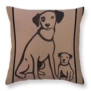 His Masters Voice - Nipper And Chipper Throw Pillow