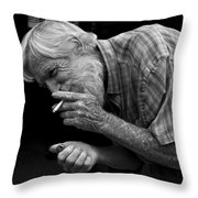 His Name Is Bow Throw Pillow