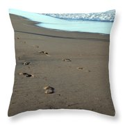 His Path Throw Pillow