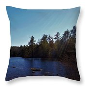 His Shining Light Throw Pillow