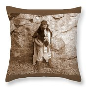 His Warclub II Throw Pillow