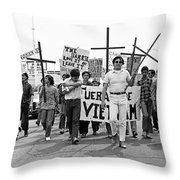 Hispanic Anti-viet Nam War March 1 Tucson Arizona 1971 Throw Pillow