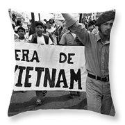 Hispanic Anti-viet Nam War March 2 Tucson Arizona 1971 Throw Pillow