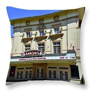 Historic 1920s Revived Lucas Theater Throw Pillow