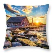 Historic Anderson Dock In Ephraim Door County Throw Pillow