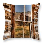 Historic Bannack Mining Reflections Throw Pillow
