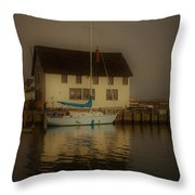 Historic Boat Builder Throw Pillow