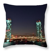 Historic Bridge Site Throw Pillow