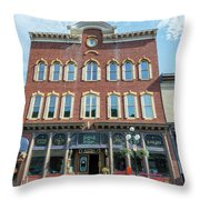 Historic Buildings Deadwood South Dakota Throw Pillow
