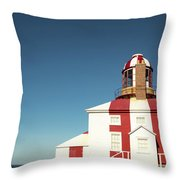 Historic Cape Bonavista Lighthouse, Newfoundland, Canada Throw Pillow