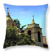 Historic Carmel Mission Throw Pillow