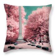 Historic Cemetery In Infrared Throw Pillow