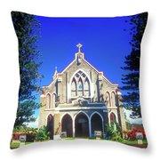 Historic Church Maui Throw Pillow