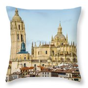Historic City Of Segovia Throw Pillow
