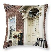 Historic City Tavern Throw Pillow