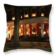 Historic District Christmas Throw Pillow