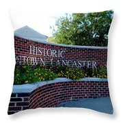 Historic Downtown Lancaster Throw Pillow