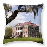 Historic Drayton Hall In Charleston South Carolina Throw Pillow