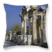 Historic Ephesus Throw Pillow