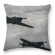 Historic Fighter Planes Throw Pillow