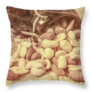 Historic Food Art Throw Pillow