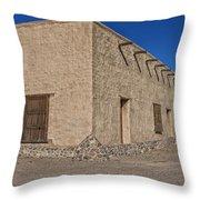Historic Fort Leaton- Texas Throw Pillow