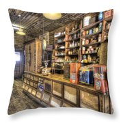 Historic General Store Throw Pillow