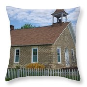 Historic Hinerville Schoolhouse  Throw Pillow