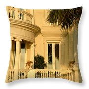 Historic Home On Battery Street Throw Pillow