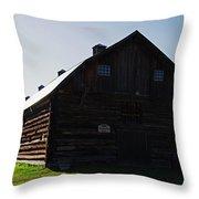 Historic Horse Barn Throw Pillow