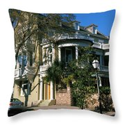 Historic Houses In A City, Charleston Throw Pillow