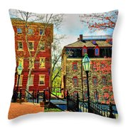 Historic Intersection Throw Pillow