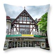 Historic Keswick Theater In Glenside Pa Throw Pillow