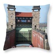 Historic Lift Lock Throw Pillow