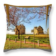 Fort Hancock Sandy Hook Nj In Spring  Throw Pillow