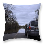 Historic Louisiana Flooding Throw Pillow