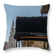 Historic Mills House Lodging Throw Pillow