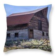 Historic More Barn Throw Pillow
