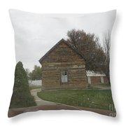 Historic Mormon Cabin Throw Pillow