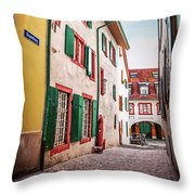 Historic Old Town Basel Switzerland  Throw Pillow