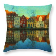 Historic Old Town Lubeck Throw Pillow