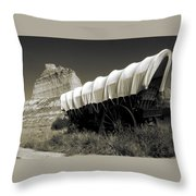 Historic Oregon Trail - Vintage Photo Art Print Throw Pillow